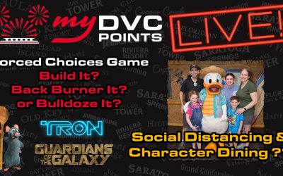 Live! 05-03-2020 – Social Distancing and Character Dining! Build It, Back Burner It, or Bulldoze It!