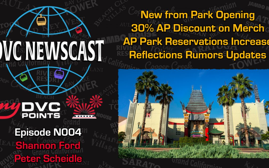 N004 Updates on Park Reopening and 30% AP Discount