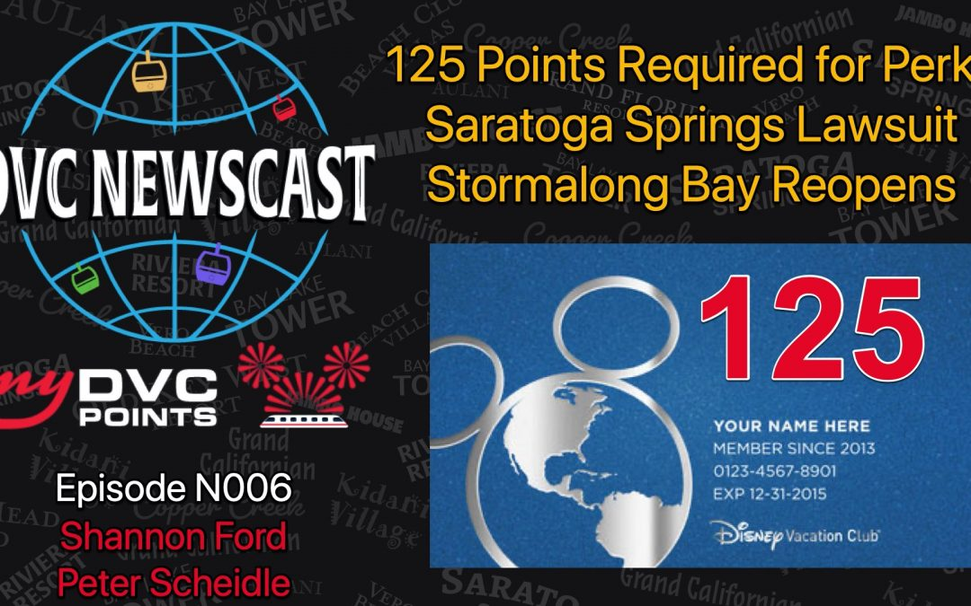 N007 DVC Blue Card Requires 125 Points and More News