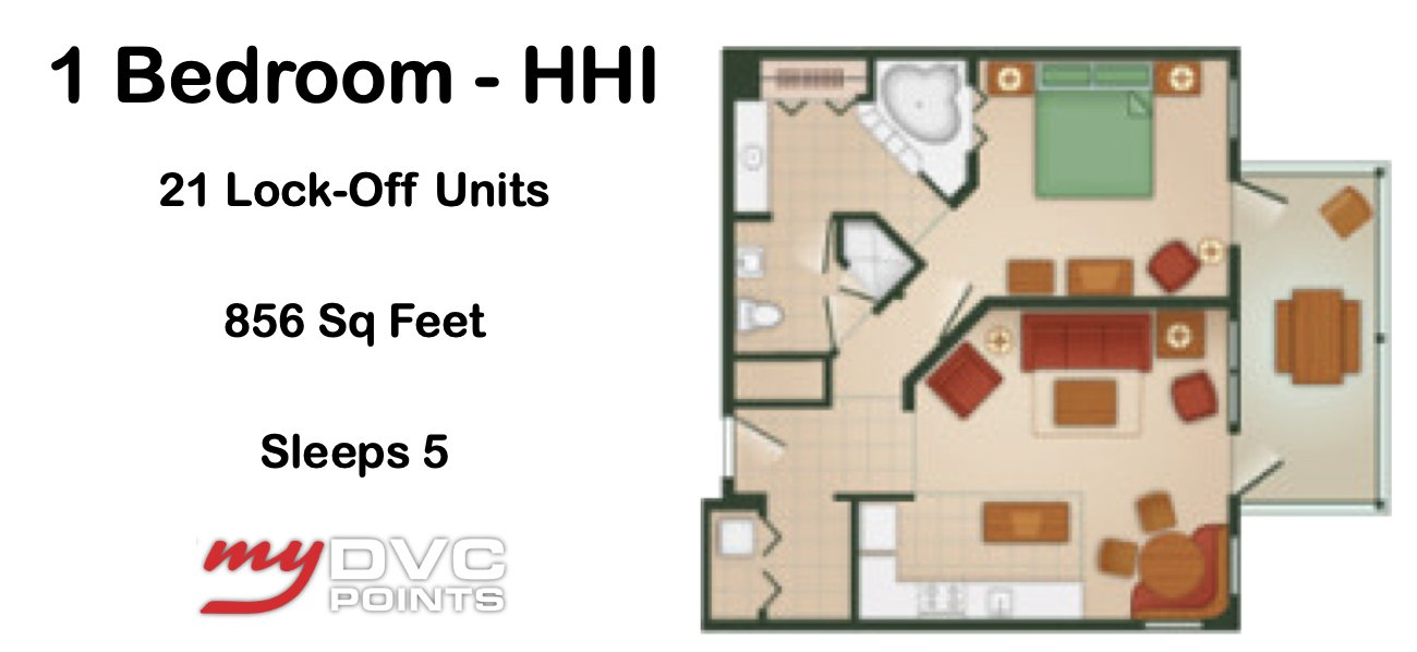 Disney's Hilton Head Island Resort Deluxe Studio Floor Plan