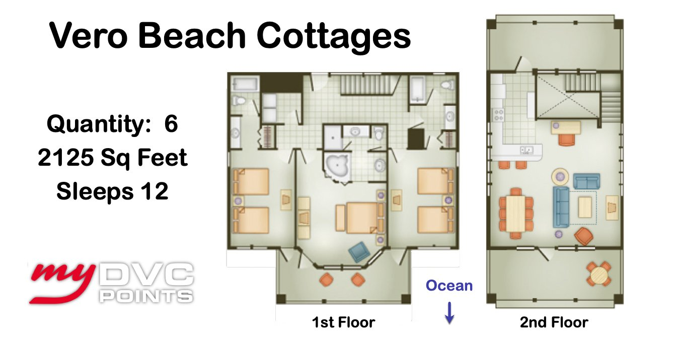 Disney's Vero Beach Resort 1 Bedroom Floor Plan