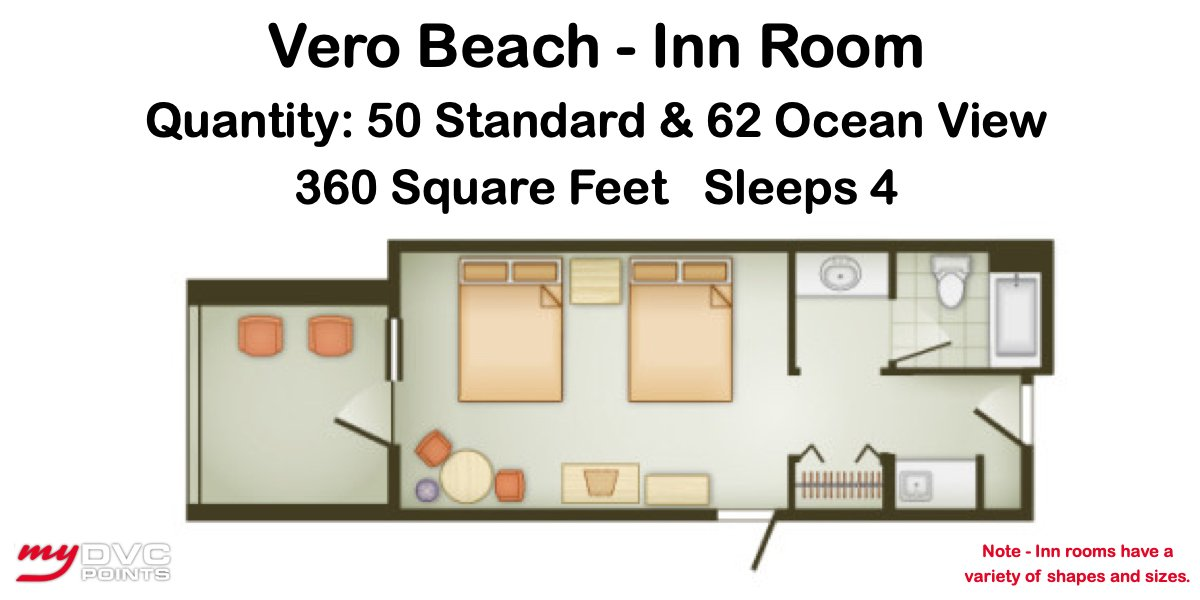 Disney's Vero Beach Resort Inn Room Sample Floor Plan
