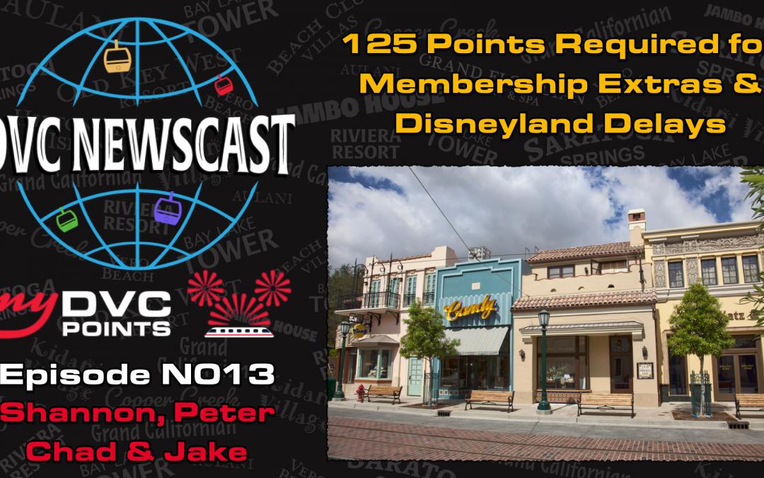 N013 125 Point Minimum Confirmed & Disneyland Reopening Delayed