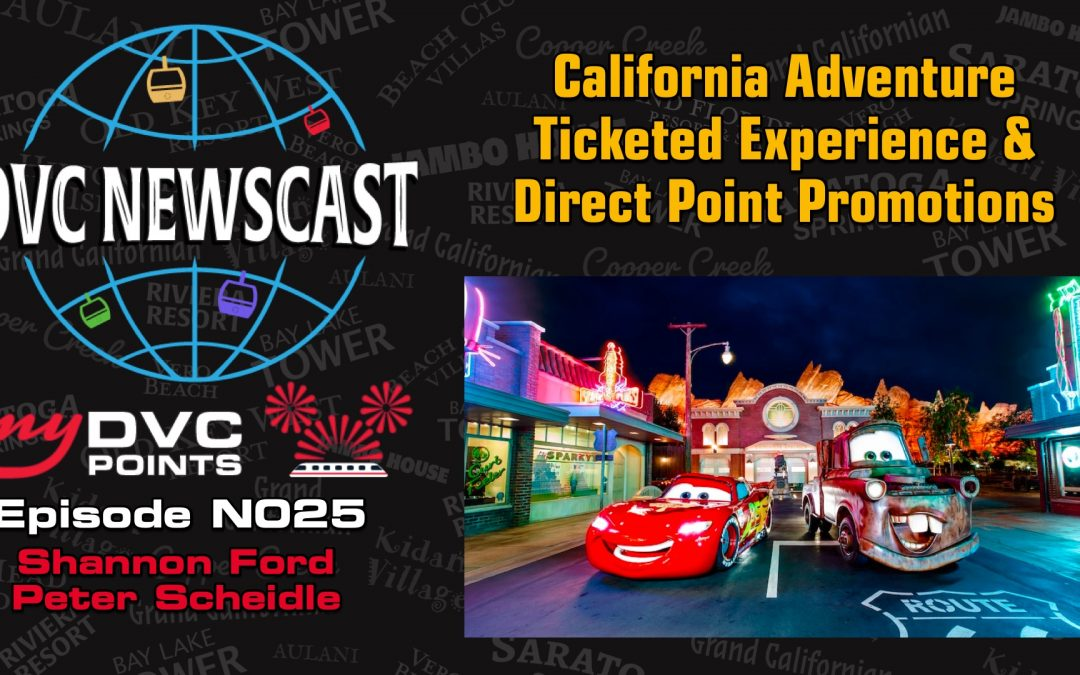 N025 California Adventure Ticketed Experience & Direct Promotions