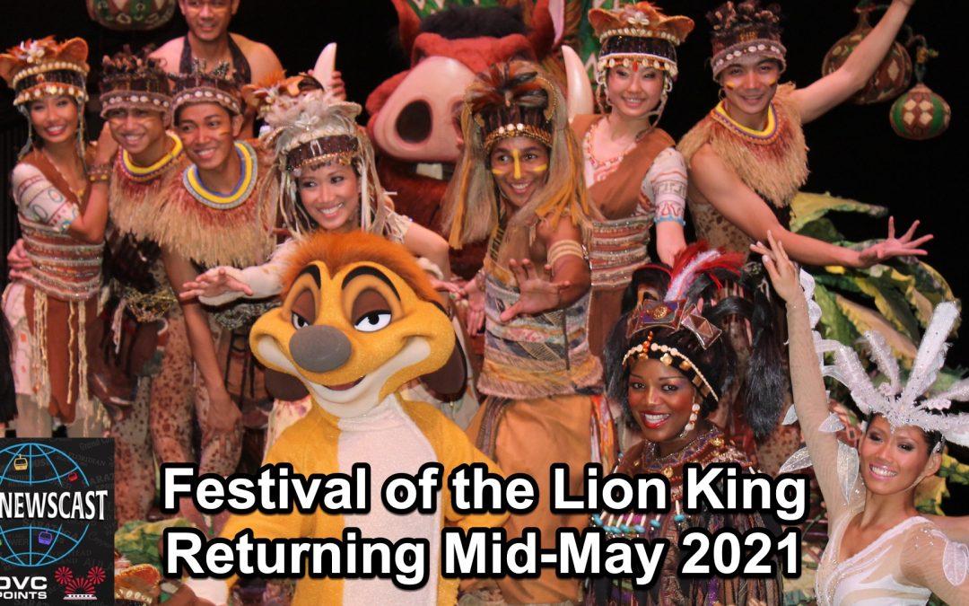 N034 Festival of the Lion King & Mobile Order Update