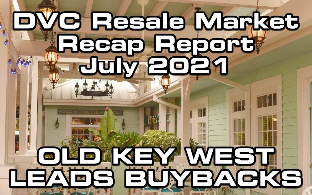 DVC Resale Market Recap for July 2021