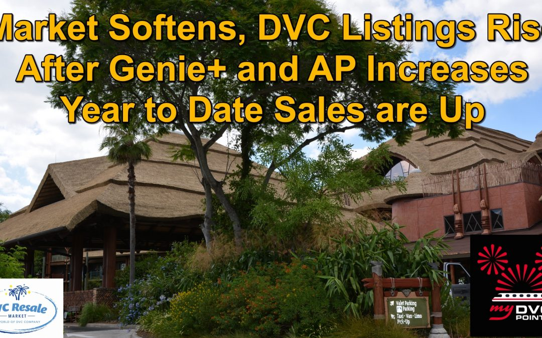 Market Softens, DVC Listings Rise After Genie+ and AP Increases